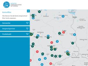 Karte der EE-Netzwerke 2019